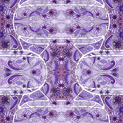 Say It In Purple  fabric by edsel2084 on Spoonflower - custom fabric