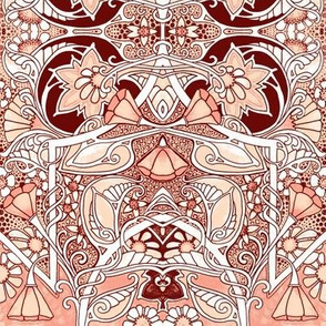 Fantasy Garden (peach and brown)