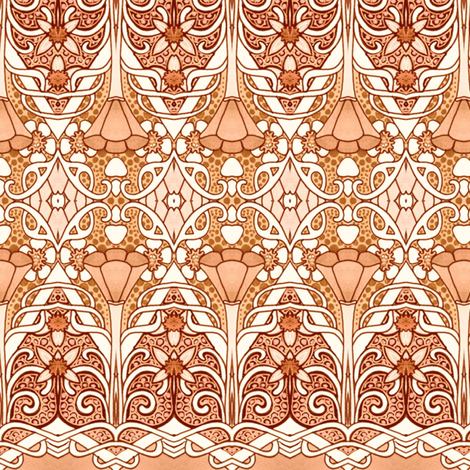 Gothic Zig Zag Poppy Time fabric by edsel2084 on Spoonflower - custom fabric