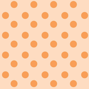 polka dots Large - peachy orange