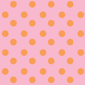 polka dots Large - pinky orange