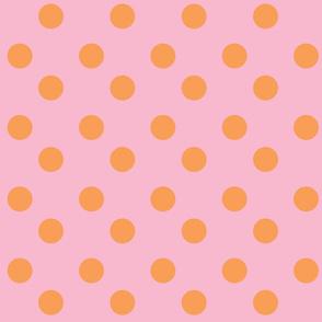 polka dots Large - pinky orange