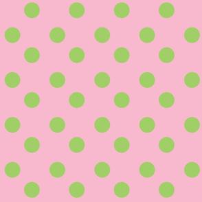 polka dots Large - pinky  lime