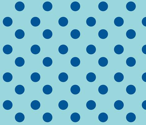 polka dots Large - turquoise  ocean fabric by drapestudio on Spoonflower - custom fabric