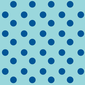 polka dots Large - turquoise  ocean