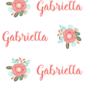 floral personalized baby fabric , personalized baby, name fabric,  cute fabric, best custom fabric, custom name fabric,