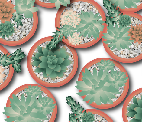 succulents fabric by teart on Spoonflower - custom fabric