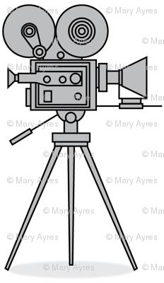 grey vintage-movie-cameras