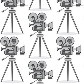 grey vintage-movie-cameras
