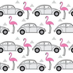 cars-and-flamingos