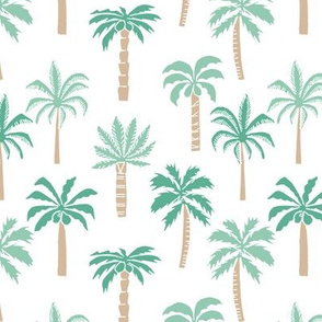 palm tree fabric // tropical summer linocut design by andrea lauren palm prints