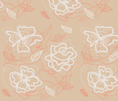 Papercut Flowers fabric by sixsie_lou on Spoonflower - custom fabric