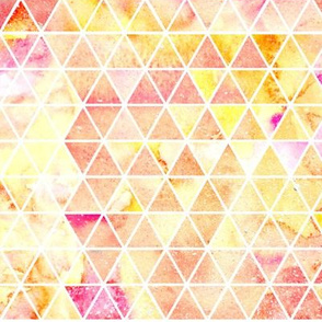 Pink and orange watercolour triangles