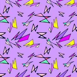 Wacky 80s//Purple//Geo Pattern #1