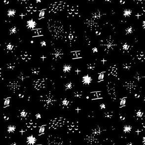 MIxed Pattern   Black