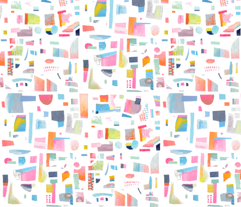 Abstract Painted Shapes fabric by emmaallardsmith on Spoonflower - custom fabric
