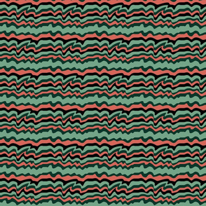 succulent stripes - pink, green and black