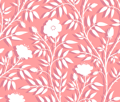 Paper Roses  fabric by logan_spector on Spoonflower - custom fabric