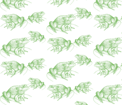 Frogs in Green fabric by madrona_tree on Spoonflower - custom fabric