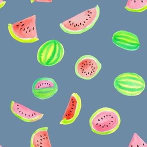 Watermelons on Cornflower
