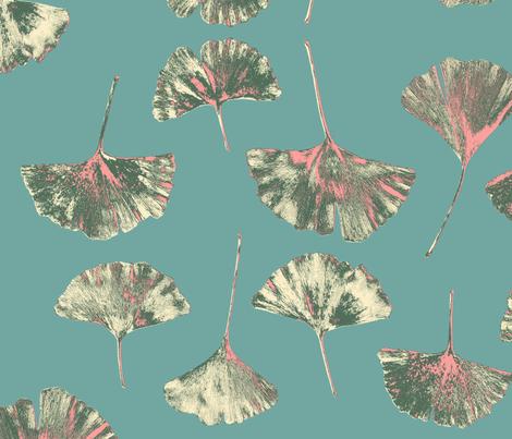 Ginkgo Leaves, Cantone fabric by jen_stone on Spoonflower - custom fabric