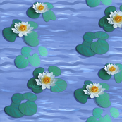 Paper Water Lilies on a Paper Lake