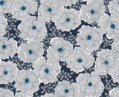 Wistful Blooms in midnight