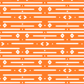 Orange and White Aztec