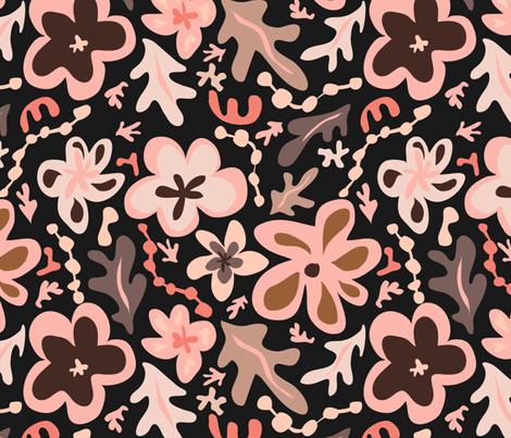 Floral a la Matisse - Primrose  fabric by fernlesliestudio on Spoonflower - custom fabric