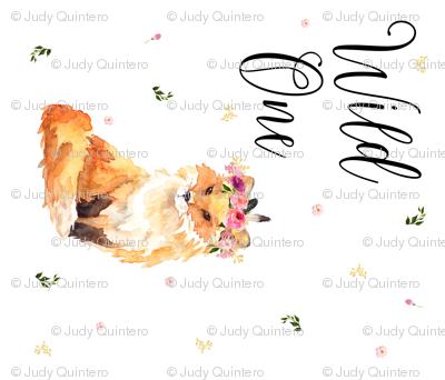 "42""x36"" Wild One / Fox Floral 1 to 1 Yard"