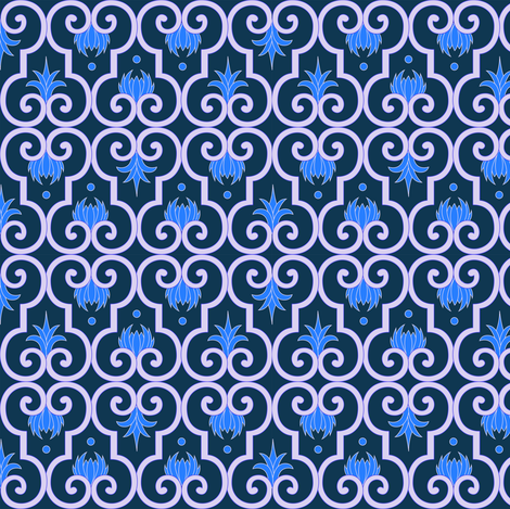 Gated Garden fabric by ay_laurita on Spoonflower - custom fabric