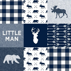 Little Man Patchwork - navy