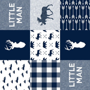 Little Man Patchwork (90) - navy