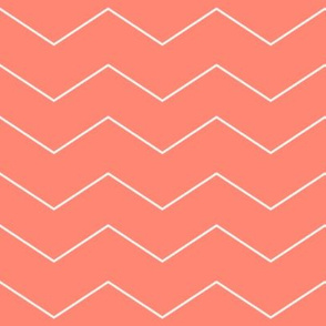 Salmon Chevron ~ Spoonflower Coral