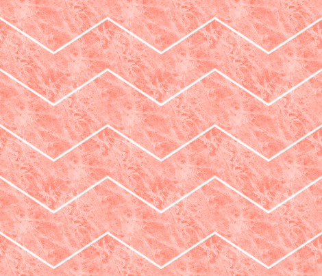 Salmon  Steak Chevron fabric by peacoquettedesigns on Spoonflower - custom fabric