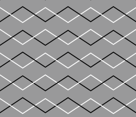 Criss Cross Chevron ~ Pewter  fabric by peacoquettedesigns on Spoonflower - custom fabric