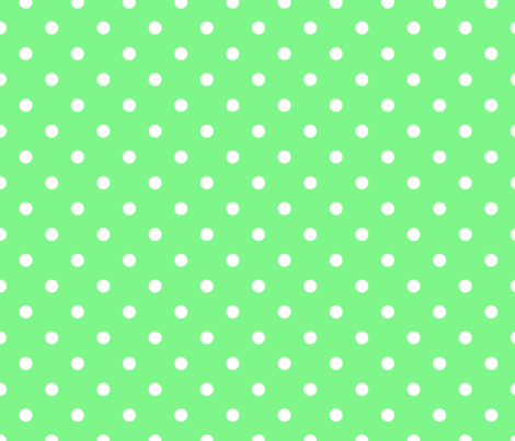 Apple Green and White Polka Dots fabric by paper_and_frill on Spoonflower - custom fabric