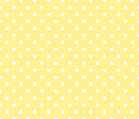 Buttermilk Yellow and White Polka Dots fabric - paper_and_frill ...