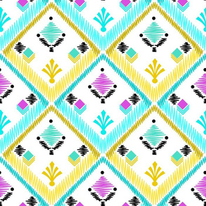 Ethnic square pattern .
