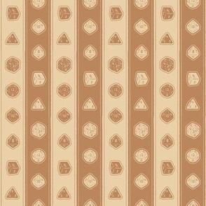 Polyhedral Stripe - Parchment