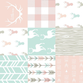 Wholecloth Quilt - custom edit - soft pastel woodland