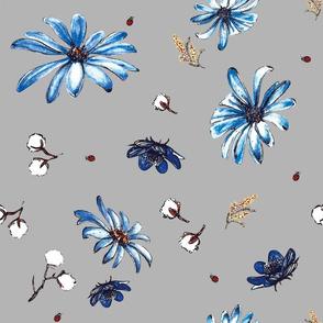 Blue Sea Flora_grey