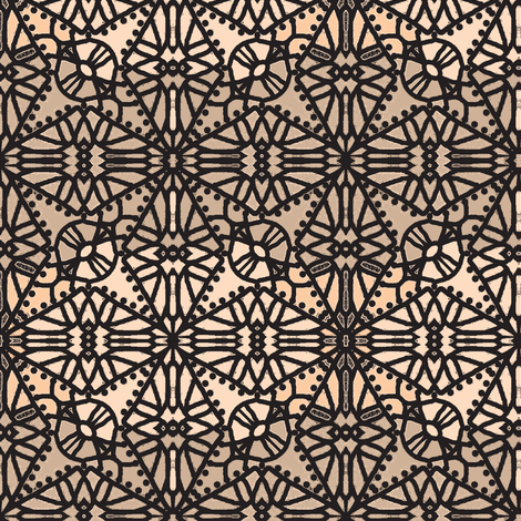 Not Your Grandmas Lace- varied nude fabric by franbail on Spoonflower - custom fabric