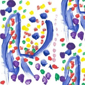 Peppy's blue swirl (half drop)