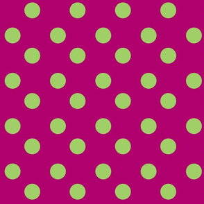 polka dots Large - plumberry lime