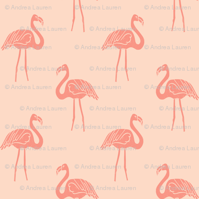 flamingo fabric // simple tropical summer preppy flamingo design by andrea lauren - peach