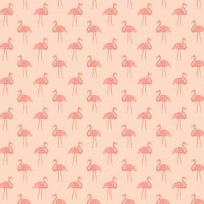 flamingo fabric // simple tropical summer preppy flamingo design by andrea lauren - peach