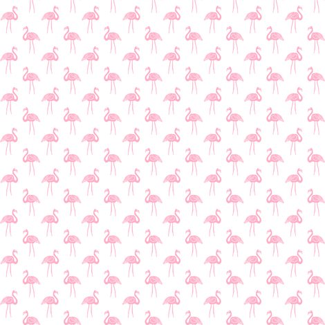 flamingo fabric // simple tropical summer preppy flamingo design by andrea lauren - pink on white fabric by andrea_lauren on Spoonflower - custom fabric