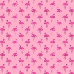 flamingo fabric // simple tropical summer preppy flamingo design by andrea lauren - pink