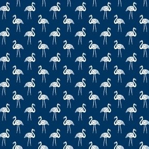 flamingo fabric // simple tropical summer preppy flamingo design by andrea lauren - navy and white